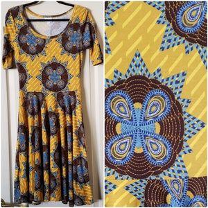 Nicole lularoe dress size S yellow